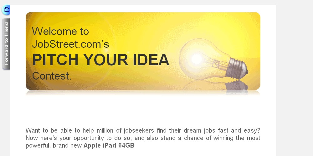 I love contests jobstreet pitch your idea contest win brand jobstreet pitch your idea contest win brand new apple ipad 64gb and more stopboris Image collections