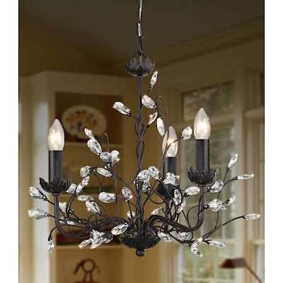 Pottery barn camilla 3 arm chandelier decor look alikes iron and crystal 3 light chandelier retails for 13999 mozeypictures Choice Image