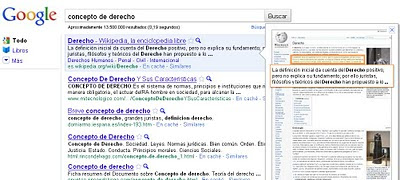Cómo se ve Google Instant Preview