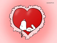 Snoopy Dog-Wallpaper-For-Valentine
