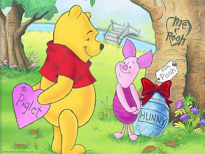 Pooh's Valentines Day Wallpaper