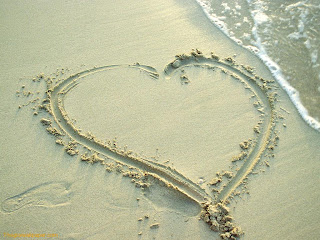 Heart In Sand Wallpapers
