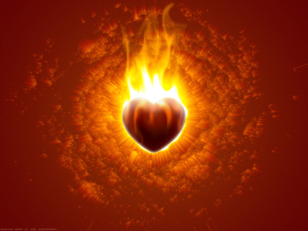 Burning Heart Wallpapers, Heart Burning in love Wallpaper