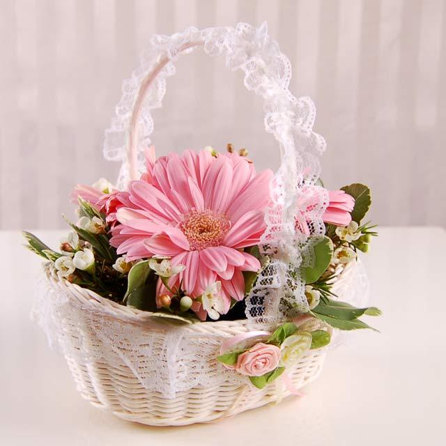 Images Of Flower Baskets : Valentines wallpapers valentine flower basket