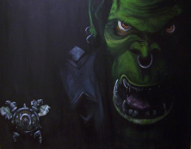 """Ork  24""""x30"""" (commission)"""
