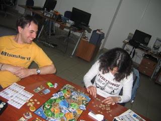 Mau e Domy in una delle serate di gioco che organizziamo