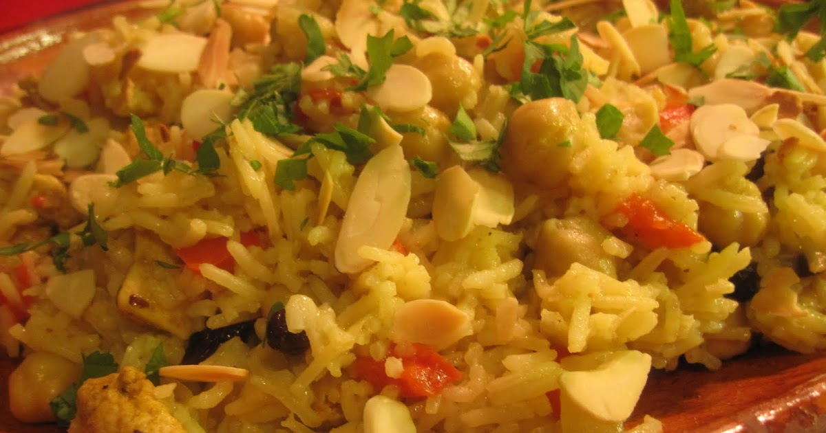 Chicken And Chickpea Pilaf Recipe — Dishmaps