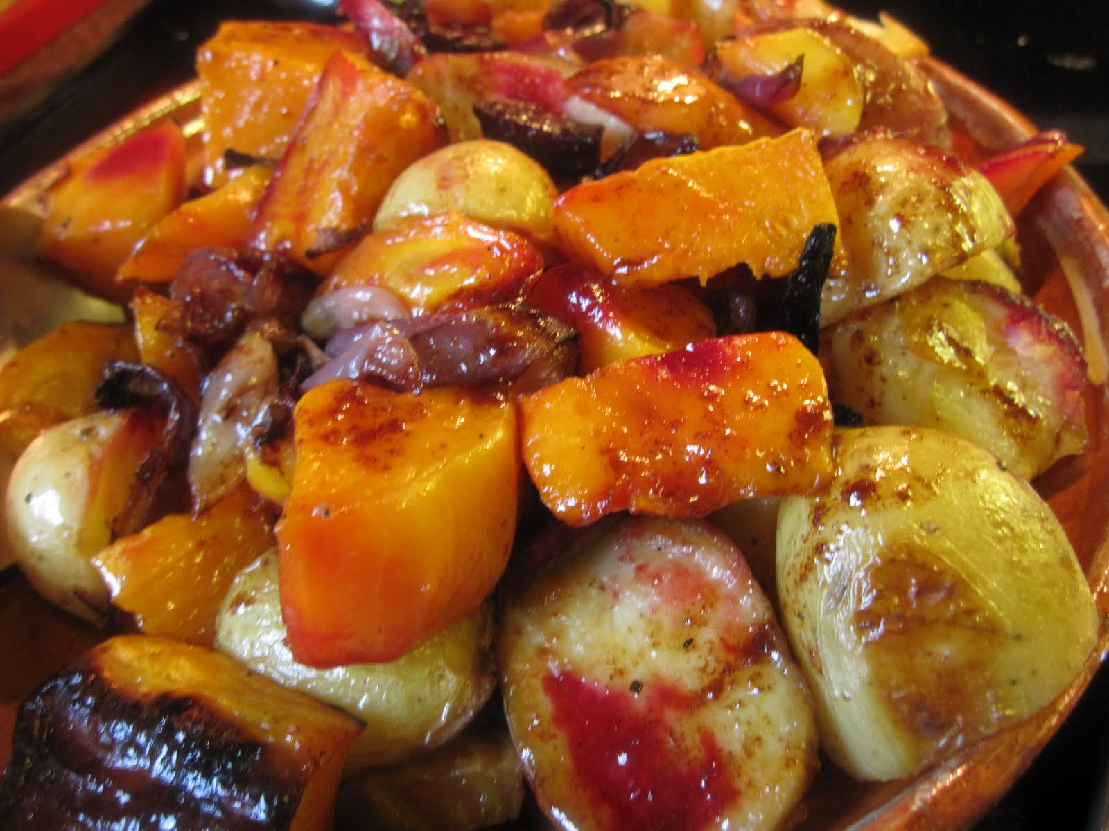 ... from 4EveryKitchen: Roasted Vegetables with Maple Syrup Dressing