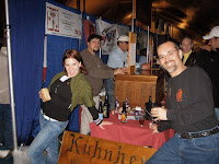 At the World Beer Festival, sampling the Creme Brulee Java Stout with Erin, representative for the Kuhnhenn Brewery of Warren, MI