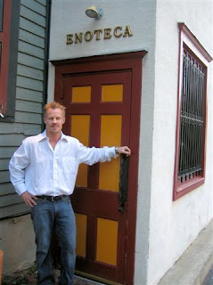 GM Josh Palmer standing at side entrance to the Enotica