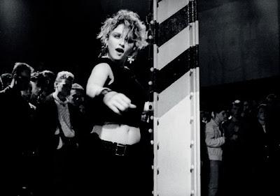 Madonna performing at the Hacienda, 1984