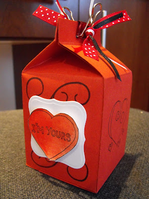 The most darling altered art Valentine's box from my sweet blogland friend