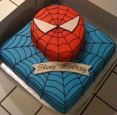 Spiderman Buttercream Cake Design : BradyCakes: Spiderman Birthday Cake