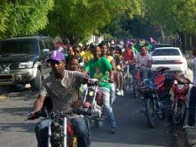Candidato a Alcalde PTD-PLD realiza marcha-caravana