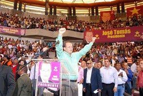 JOSE TOMAS PEREZ RECIBE MASIVO APOYO, PIDE 4 % PARA LA EDUCACION