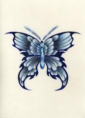 """""""Blu Butterfly"""" by Kelly Lewis"""