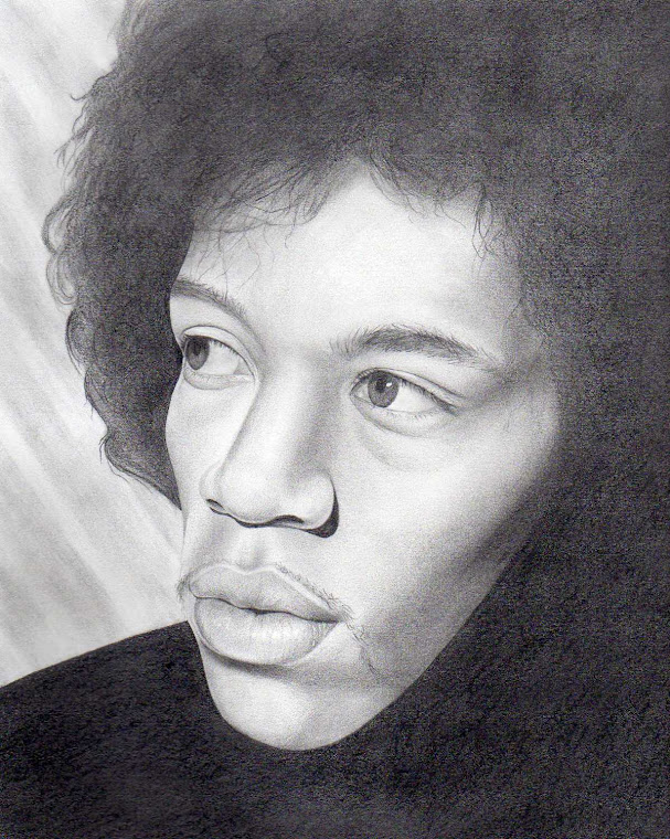 "Jimi Hendrix 11"" x 14"" Original Portrait Illustration - For Sale at www.redsart.etsy.com"