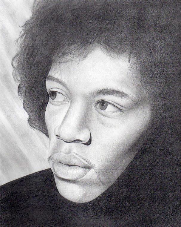 "Jimi Hendrix 11"" x 14"" Original Portrait Illustration - For Sale at www.redsart.etsy.com"