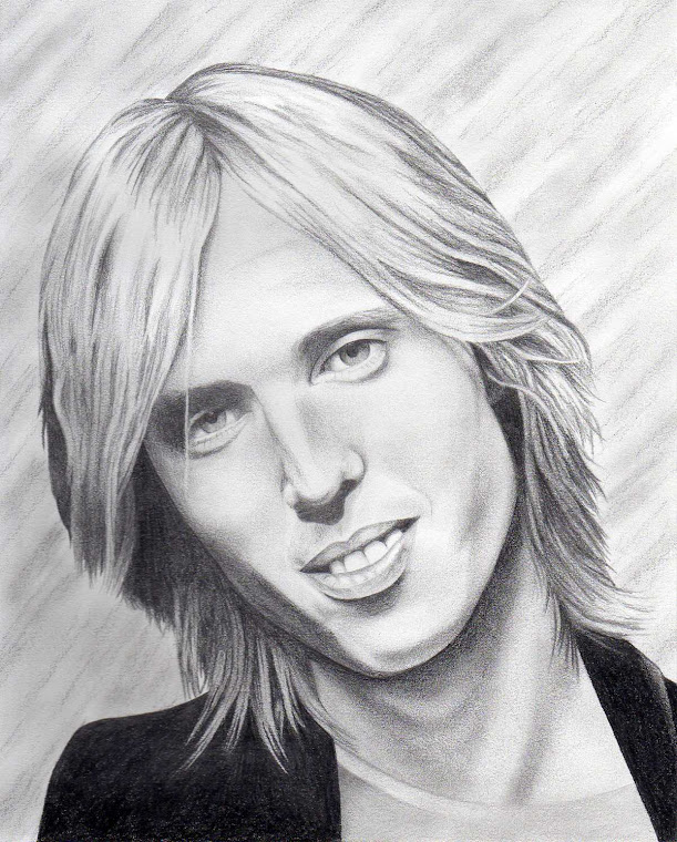 "Tom Petty 8"" x 10"" Original Portrait Illustration - For Sale at www.redsart.etsy.com"