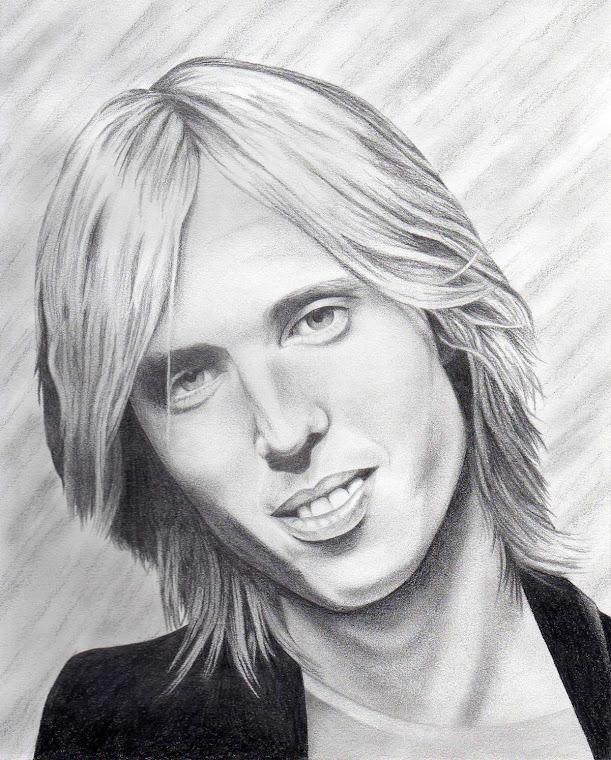 "Tom Petty 8"" x 10"" Original Portrait Illustration - For Sale at www.redsart.etsy.com"