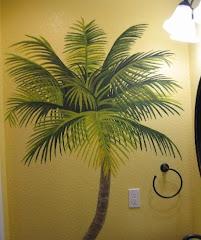 Palm Bathroom Mural 3