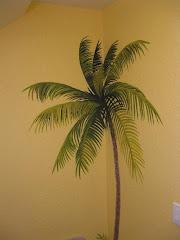 Palm Bathroom Mural 1