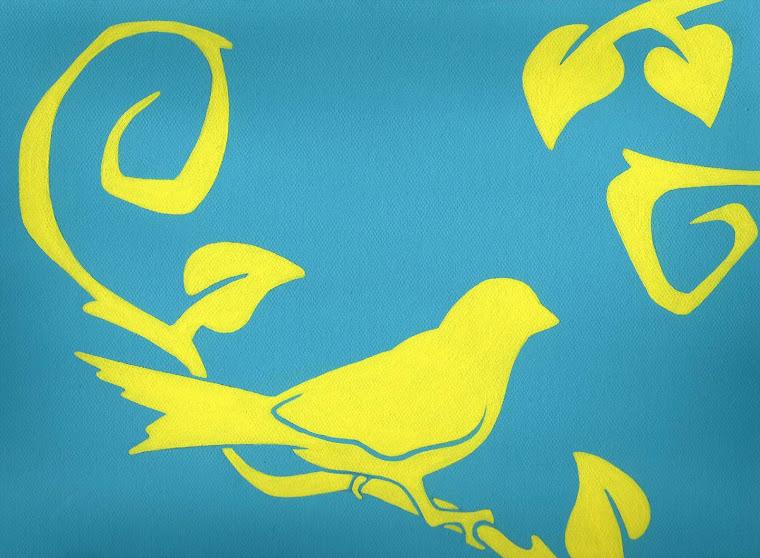 """""""Tweet n Twigs"""" 9"""" x 12"""" Original Painting"""