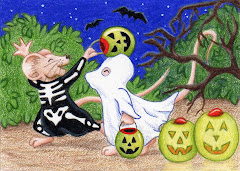 """Lil Ghouls"" ACEO - SOLD"