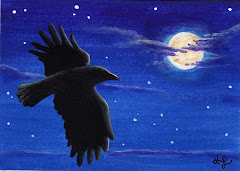 """Hallow's Eve Raven"" ACEO - SOLD"