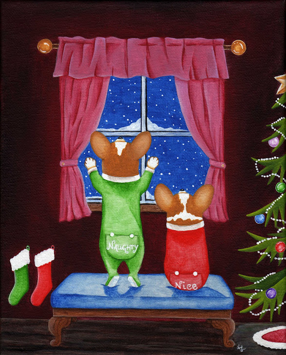 """Naughty & Nice"" painting - SOLD"