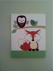 Nursery Fox canvas painting