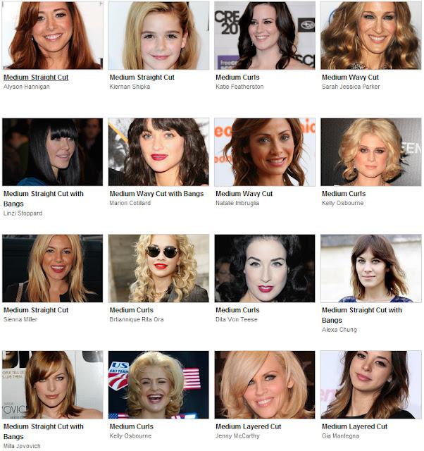 Cortes de cabelo 2011 - Penteado das atrizes