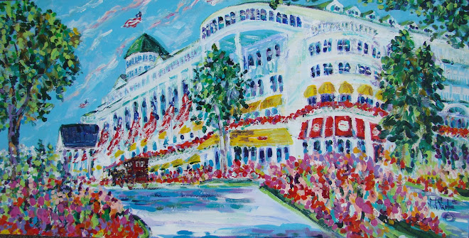 """THE GRAND HOTEL"" ACRYLIC ON CANVAS"