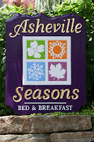 This is a picture of the sign for our Asheville Bed and Breakfast in Asheville North Carolina