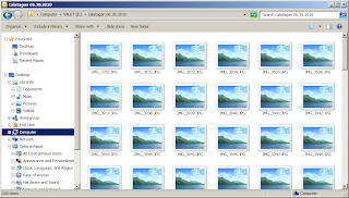 Thumbnail View Showing Icons in Windows 7