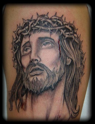 tribal jesus tattoo. tribal wrist band