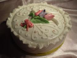 Mini torta tulipánnal