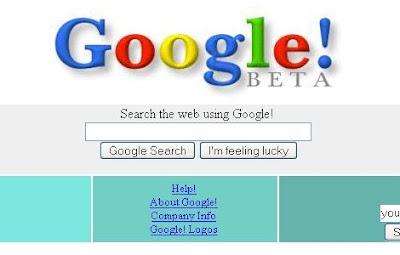 ilk Google sayfası