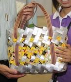 วิธีทำกระเป๋า, กระเป๋ากล่องนม วิธีสาน วิธีทำ ,กระเป๋า กล่องนม ของใช้แล้ว ลดขยะ, รีไซเคิล วัสดุเหลือใช้, ไอเดียของใช้แล้ว