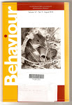 Striped mouse (Rhabdomys pumilio) on the cover of the August edition of Behaviour