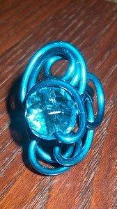 Anel aluminio azul