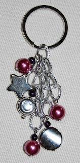 Porta-chaves uva de prata