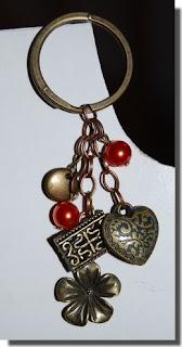 bijuteria-Porta-chaves vintage