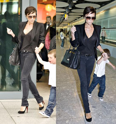 Victoria Beckham catching a Flight at Heathrow, London