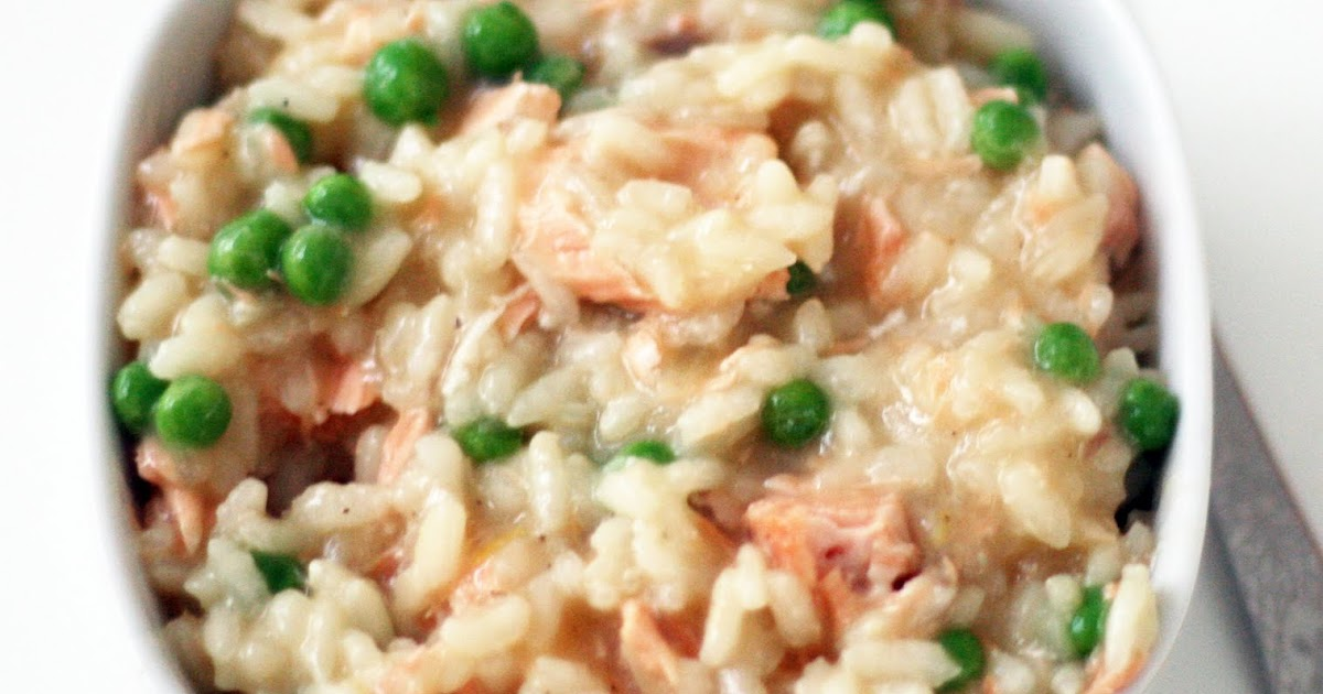 Recipes By Rachel Rappaport Salmon Pea Risotto