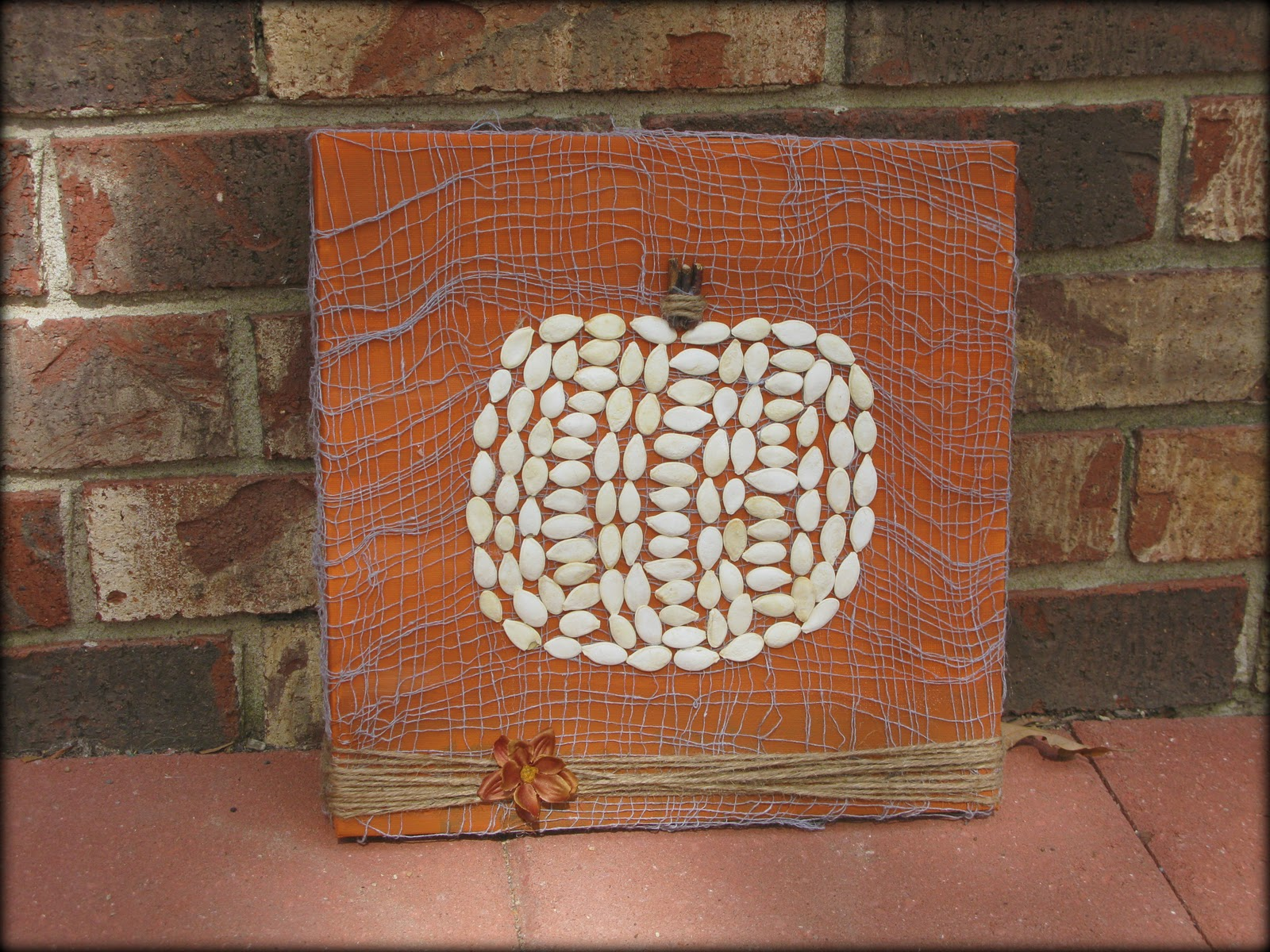 Square pumpkin decor