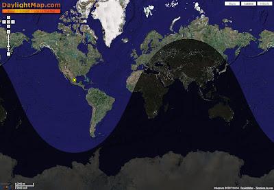 Mapa del mundo día y noche
