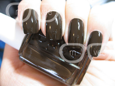 dark brown nail polish