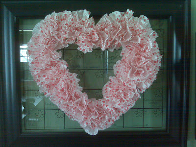 I have searched for a valentine wreath for a few years now to hang on the