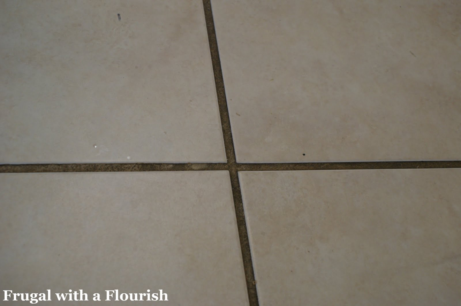 Frugal with a flourish getting tile grout back to beautiful and clean it isnt easy it involves scrubbing but in the end your grout will be restored to its normal color dailygadgetfo Image collections